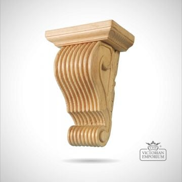 Large Reeded Corbel with scroll bottom