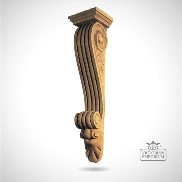 Extra Large Reeded Bracket with Capping