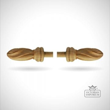 Fluted Peardrop Finial For A Brass Curtain Pole