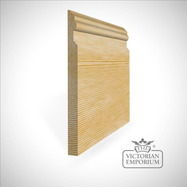 Tall skirting with curved and straight profile 300 x 21mm