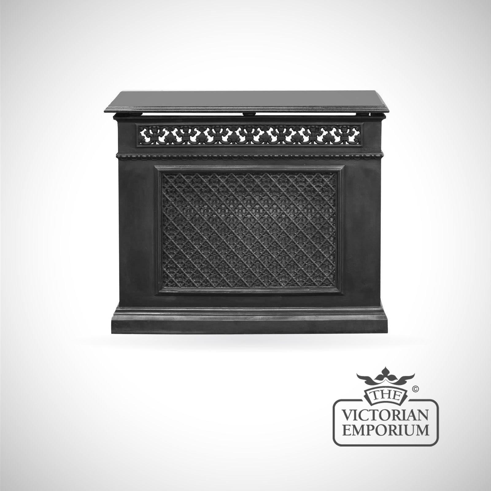 Decorative cast iron 1 panel radiator cover - Cast iron radiator covers ...