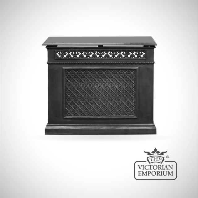 Decorative Cast Iron 1 Panel Radiator Cover with Criss Cross design