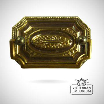 Rectangular plate handle