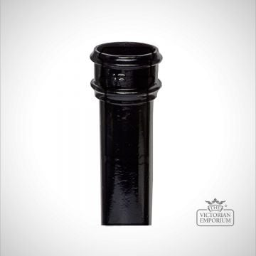 Round plain pipe - black
