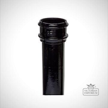 Round plain pipe - black
