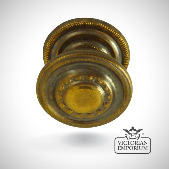Solid brass decorative cupboard knob