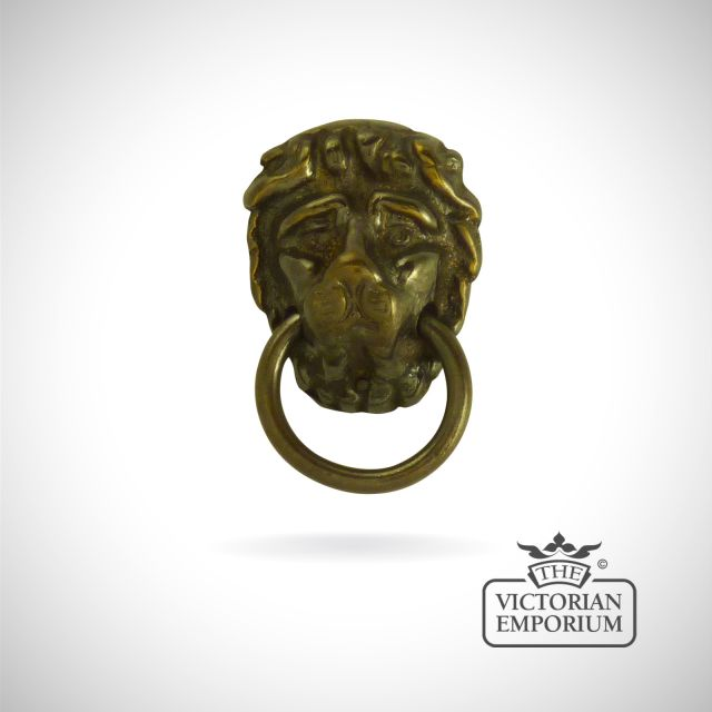 Brass Lion Head Empire Ring Handles