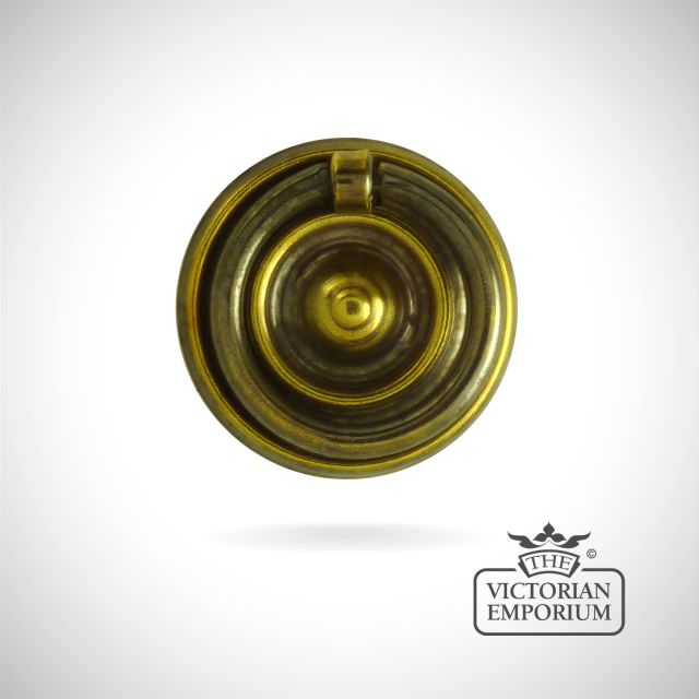 Classic brass circular pattern ring handle