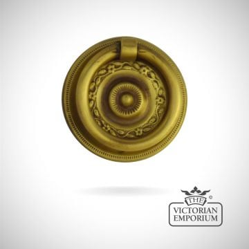 Decorative stamped brass ring plate