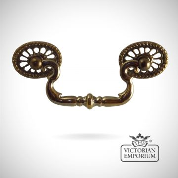 Brass Fretted Decorative Cabinet Handle