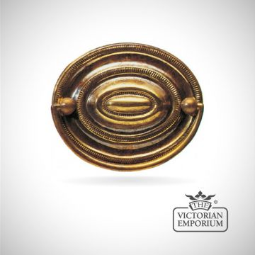 Traditional oval plate handle