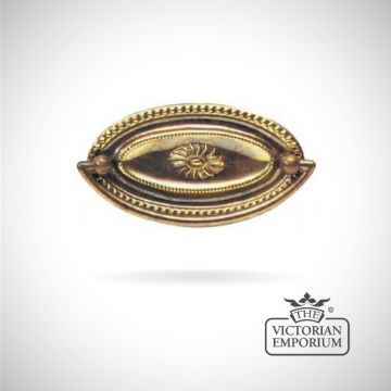 Classic Oval plate handle with sun motif