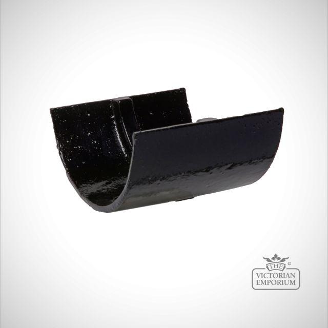 Union Clip for plain half round gutter - black
