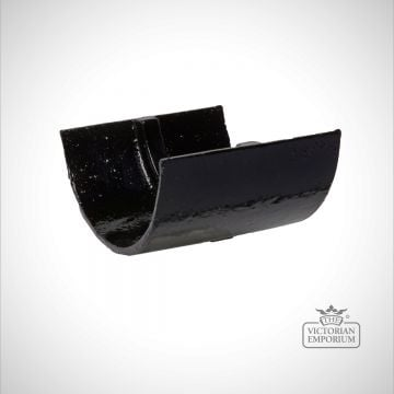 Union Clip for plain half round gutter - black