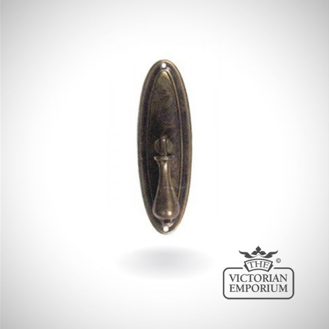 Oval antique pedestal handle