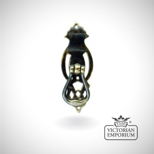 Pedestal handle with intricate decorative details