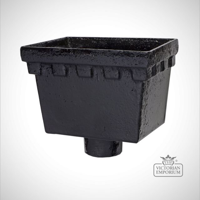 Rectangular Castellated Head - black