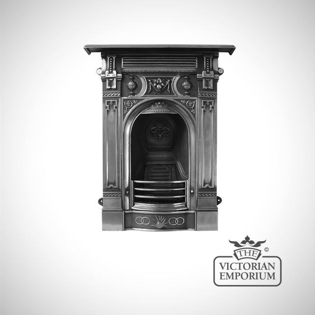 Late Victorian style cast iron fireplace
