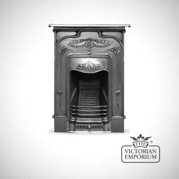 Art Nouveau style cast iron fireplace