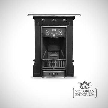 Arts Nouveau Flower style cast iron fireplace