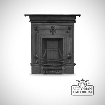 Arts Nouveau Botanicals style cast iron fireplace