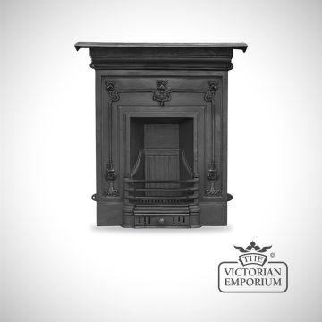 Arts Nouveau Botanicals style cast iron fireplace