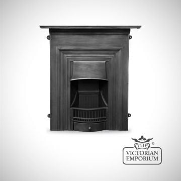 Plain Victorian style cast iron fireplace