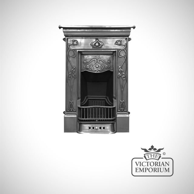 Crocus design cast iron fireplace