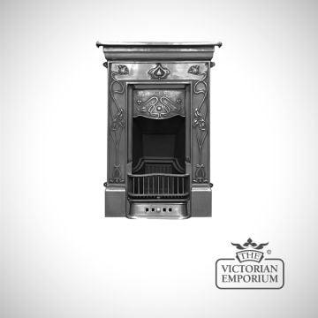 Crocus design cast iron fireplace