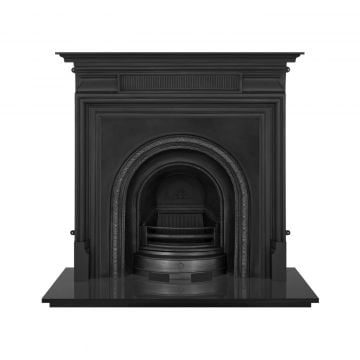 Scottish Victorian style cast iron fireplace