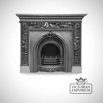 The London Victorian style cast iron fireplace