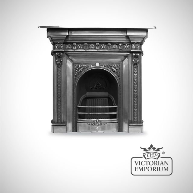 The Melville Victorian style cast iron fireplace
