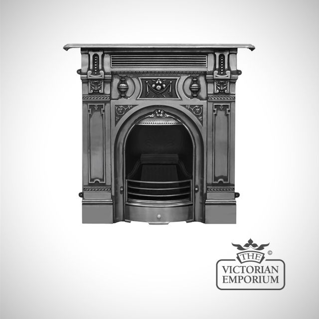 The Large Victorian style cast iron fireplace