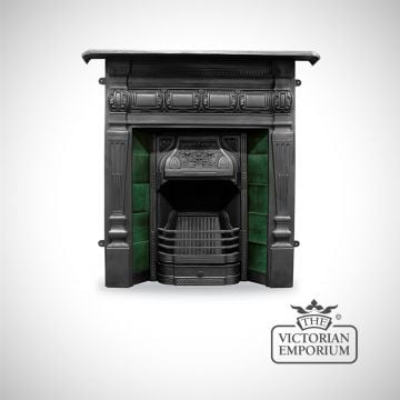 Lambourne Victorian style cast iron fireplace with ceramic tiles