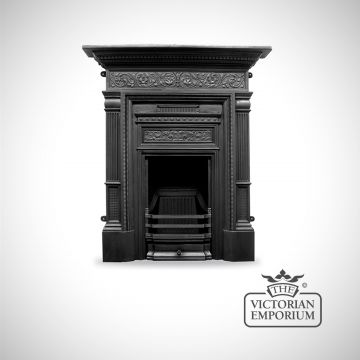 Hamden Victorian style cast iron fireplace