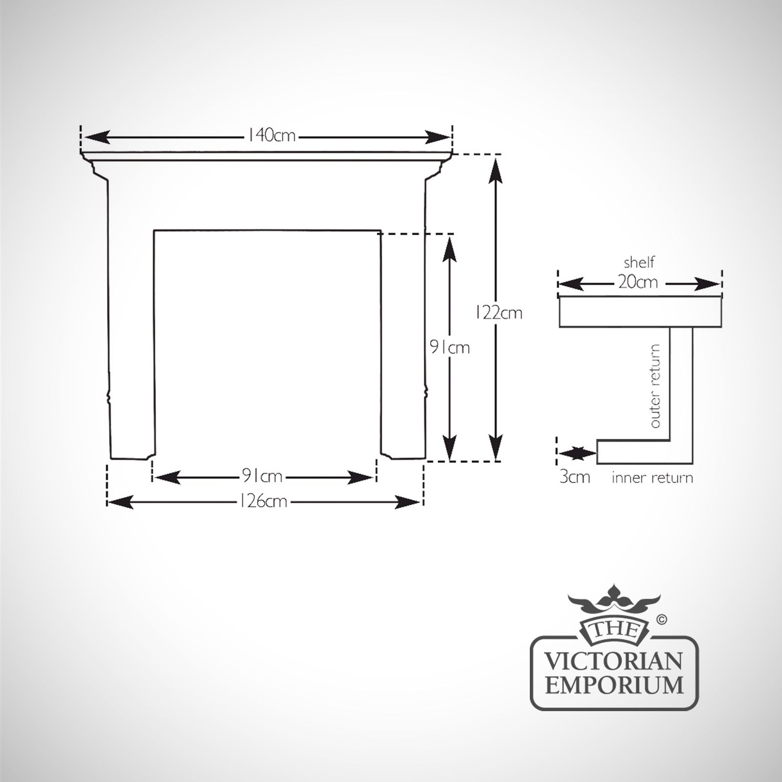 Fireplace Surround Dimensions Part - 26: The Corbel Wooden Fireplace Surround - Choice Of Pine And Oak