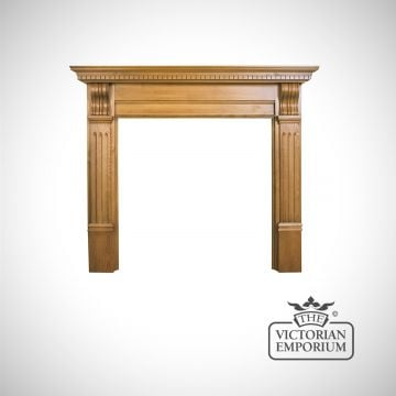 Wood oak beach ask surround fireplace traditional victorian 19thcentry old classical decorative-smc007