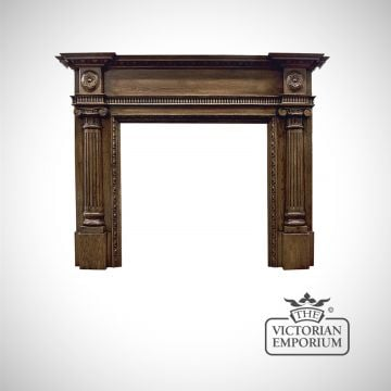 The Ashleigh Wooden Fireplace surround in an unfinished or distressed oak finish