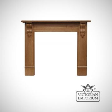 The Scottish Corbel Wooden Fireplace surround - choice of pine and oak