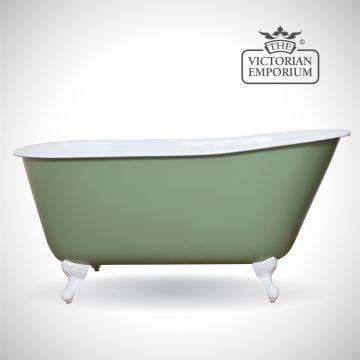 Lillian cast iron bath - painted