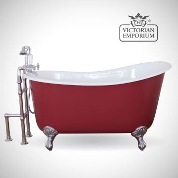 Lyonnaise cast iron bath - painted