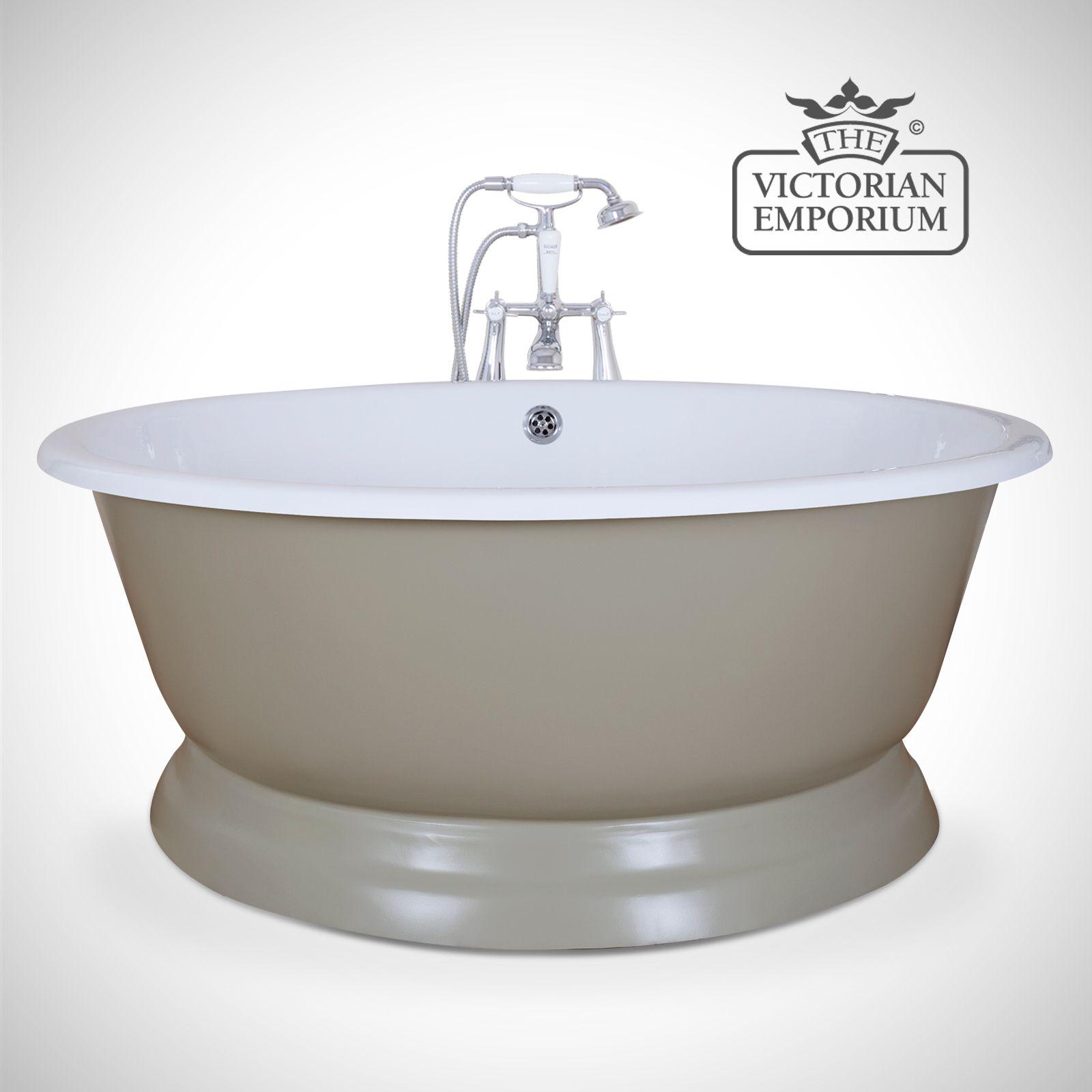 Circular cast iron bath - painted | Baths