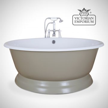 Circular cast iron bath - painted