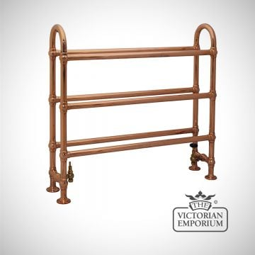 Horse Heated Towel Rail 910x1000mm in a copper finish