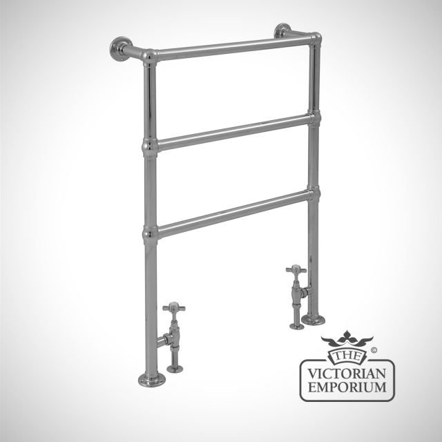 Buckingham Heated Towel Rail 960x675mm in a chrome or copper finish