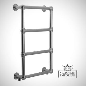 Bassington Heated Towel Rail 770x500mm in a chrome or copper finish