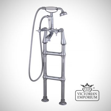 Chrome-standing-tap-for-a-rolltop-bath traditional victorian-qss020