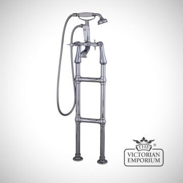 Chrome-standing-tap-for-a-rolltop-bath traditional victorian-qss022