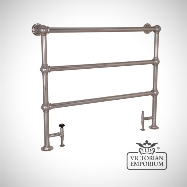 Grande Wide Heated Towel Rail 1000x1150mm in a chrome, nickel or copper finish