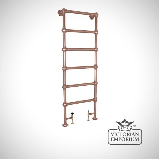 Grande Very Tall and Slim Heated Towel Rail 1800x650mm in a chrome, nickel or copper finish